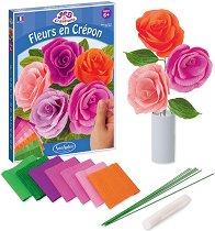 Направи сама - Хартиени рози - Творчески комплект - играчка