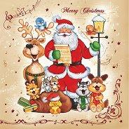 Салфетки за декупаж - Коледен хор - Пакет от 20 броя