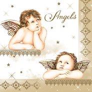 Салфетки за декупаж - Ангели - Пакет от 20 броя