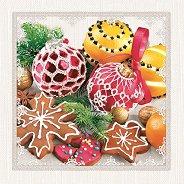 Салфетки за декупаж - Коледна магия - Пакет от 20 броя