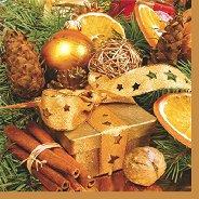 Салфетки за декупаж - Подарък и канела - Пакет от 20 броя