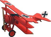 """Самолет - Fokker  DR.I - Дървен детски сглобяем модел от серията """"Junior Collection"""" -"""
