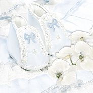 Салфетки за декупаж - Сини ританки и орхидеи