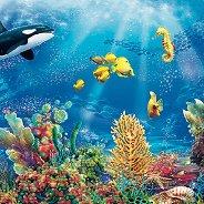 Салфетки за декупаж - Морски свят - Пакет от 20 броя
