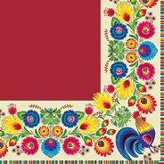 Салфетки за декупаж - Петел и цветя - Пакет от 20 броя