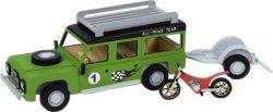 """Мотор и кола с платформа - Дървен детски сглобяем модел от серията """"Junior Collection"""" -"""