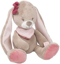 Зайче - Nina - Плюшена бебешка играчка -