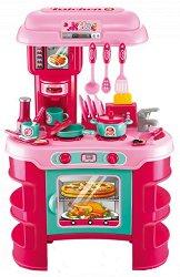 Детска кухня - Buba Kitchen Cook - Със звукови ефекти и аксесоари - играчка