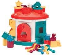 Сортер - Занимателна къща с форми - Играчка с фигури за сортиране - раница