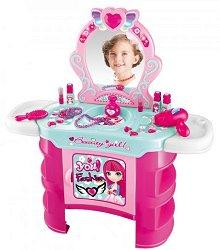 Детска тоалетка - Buba So Fashion - Със звукови, светлинни ефекти и аксесоари - играчка