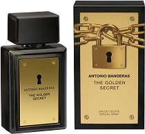 "Antonio Banderas The Golden Secret EDT - Мъжки парфюм от серията ""Secret"" -"