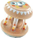 Валяче - Дървена бебешка дрънкалка -