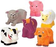 Домашни животни - Комплект от 6 броя играчки за баня -