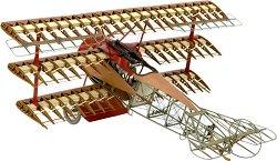 Самолет - Fokker DR.I The Red Baron's trplane - Сглобяем модел на самолет от дърво - макет