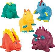 Динозаври - Комплект от 5 броя играчки за баня -