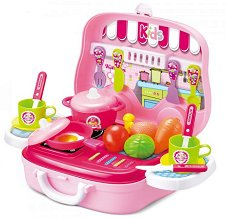 Детска кухня - Kitchen Cook - Комплект за игра в куфарче - творчески комплект