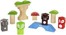 Дървен конструктор - Горски животни -