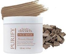 Body Drench Purify Face Mask Moroccan Ghassoul - Почистваща и подмладяваща маска за лице с глина - лосион