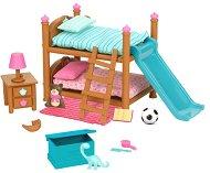 """Детска стая с двуетажно легло - Аксесоари за игра от серията """"Lil Woodzeez"""" -"""
