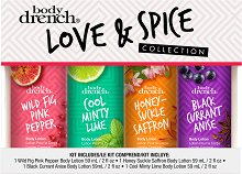 Body Drench Love & Spice Collection - Комплект лосиони за тяло - душ гел