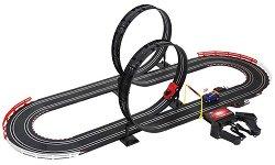 Състезателна писта - Slot Racing - С колички и два лупинга - играчка