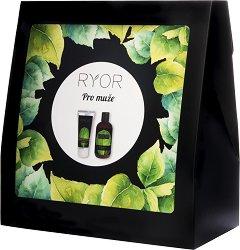 Подаръчен комплект за мъже - RYOR - Душ гел 3 в 1, крем за след бръснене и кърпа -