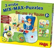 У дома - Комплект от 3 mix-max пъзела - пъзел