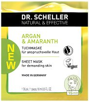 "Dr. Scheller Argan & Amaranth Sheet Mask - Целулозна маска за лице против бръчки от серията ""Argan & Amaranth"" - маска"