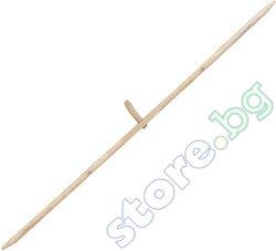 Дървена дръжка за коса с рог - ∅ 2.8 cm