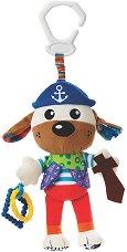 """Кученце - Капитан - Плюшена играчка за детска количка или легло от серията """"Activity Friend"""" - играчка"""
