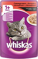Whiskas Pouch With Beef in Gravy 1+ Years - продукт