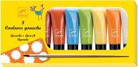 Гваш бои - Комплект от 8 цвята x 22 ml и четка - боя