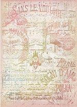 Декупажна хартия - Нотен лист - Формат А4