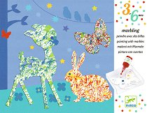 Мраморно оцветяване - Парад на цветовете - Творчески комплект за рисуване с бои - играчка