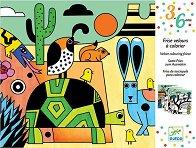 Оцветявай с флумастери - Кадифен Колорадо - Творчески комплект за рисуване -