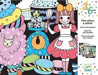 Оцветявай с флумастери - Кадифени сладкиши - Творчески комплект за рисуване -