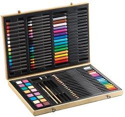 Комплект за рисуване - В дървена кутия