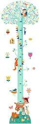 Ръстомер - Дърво - Детски метър-стикер за измерване на височина от 40 cm до 130 cm -