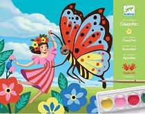 Оцветявай с гваш бои - Летни картини - Творчески комплект - творчески комплект