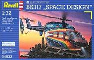Транспортен хеликоптер - BK 117 Space design - Сглобяем авиомодел - макет
