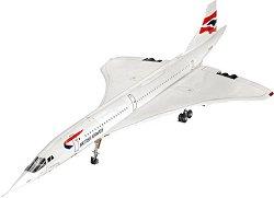 Пътнически самолет - Concorde British Airways - Сглобяем авиомодел - макет