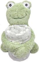 Бебешко одеяло с плюшена играчка - Жабче - Размери 70 x 100 cm - продукт