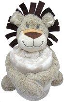 Бебешко одеяло с плюшена играчка - Лъвче - Размери 70 x 100 cm - продукт