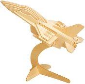Боен самолет - 3D пъзел от дърво + книжка с въпроси -