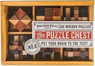 """The puzzle chest - Шест логически 3D пъзела от серията """"Puzzle Academy"""" -"""