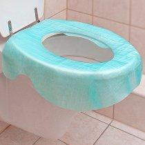 Протектори за тоалетна чиния - Комплект от 3 броя за еднократна употреба - продукт