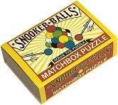 """Snooker Balls - 3D дървен пъзел от серията """"Matchbox Puzzle"""" -"""