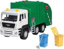 """Камион за рециклиране със звуков и светлинен ефект - Детска играчка от серията """"Driven"""" -"""