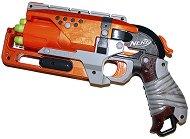 """Бластер - Zombie Strike Hammershot - Комплект с 5 броя меки стрелички от серията """"Nerf"""" - играчка"""