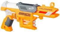 """Бластер - FalconFire - Комплект с 6 броя меки стрелички от серията """"Nerf"""" -"""